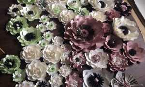 Бумажные цветы для украшения зала