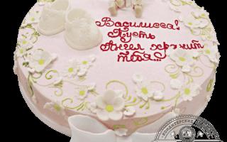 Торт на крестины москва