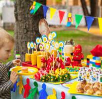 Лего вечеринка на день рождения