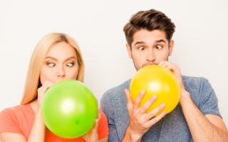 Как надуть красиво шарики