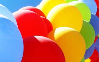 Украсить шариками комнату на рождения ребенка