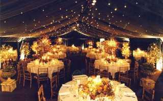 Бюджетное украшение зала на свадьбу