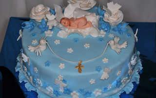 Тортики на крестины для девочки