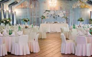 Украшения банкетного зала на свадьбу