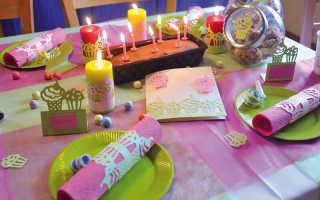 Украшение стола к дню рождения своими руками