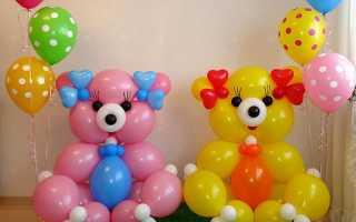 Конструкции из шаров своими руками
