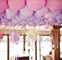 Как красиво украсить зал шарами
