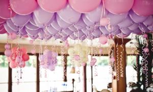 Как украсить стол шарами