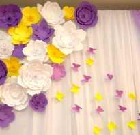 Объемные цветы для украшения зала