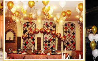 Украшения шарами на день рождения фото