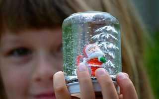 Как сделать стеклянный шар со снегом