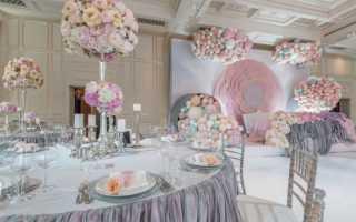 Украсить банкетный зал на свадьбу