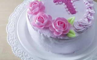 Торт таинство крещения для девочек