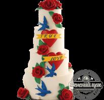 Торт в стиле 90 х