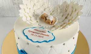 Торт на крещение девочки фото