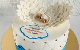 Тортик на крещение девочки фото