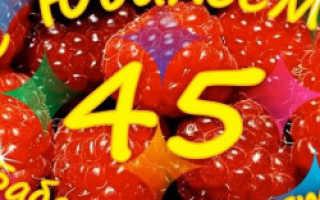 Юбилей без тамады женщине 45 лет