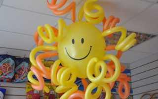 Как сделать композицию из воздушных шаров